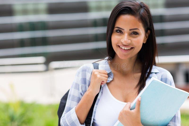 Retrato da universitária fotografia de stock