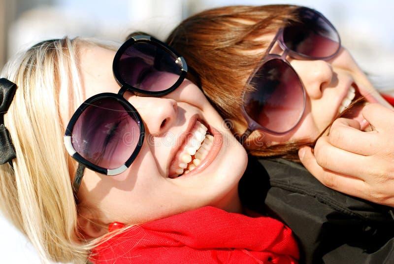 Retrato das amigas; imagem de stock royalty free