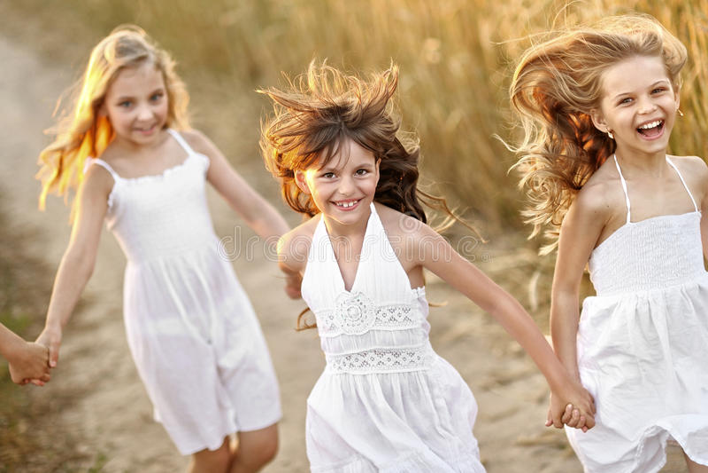 Retrato das meninas imagens de stock