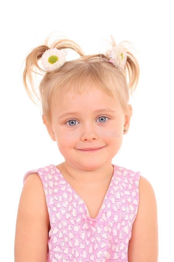 Retrato de 4 años de la muchacha fotos de archivo libres de regalías