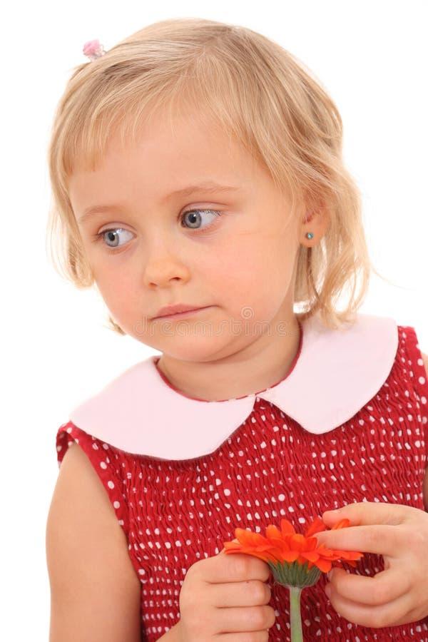 Retrato de 4 años de la muchacha w imágenes de archivo libres de regalías