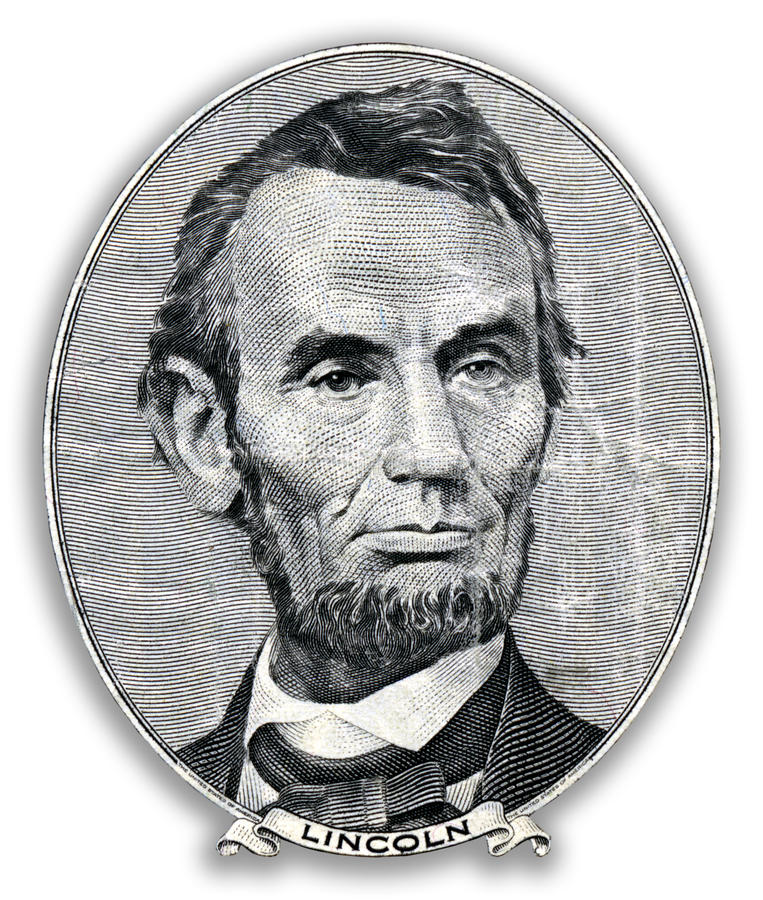 Retrato de Abraham Lincoln. stock de ilustración