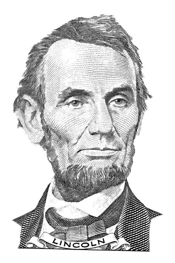 Retrato de Abraham Lincoln fotografia de stock royalty free