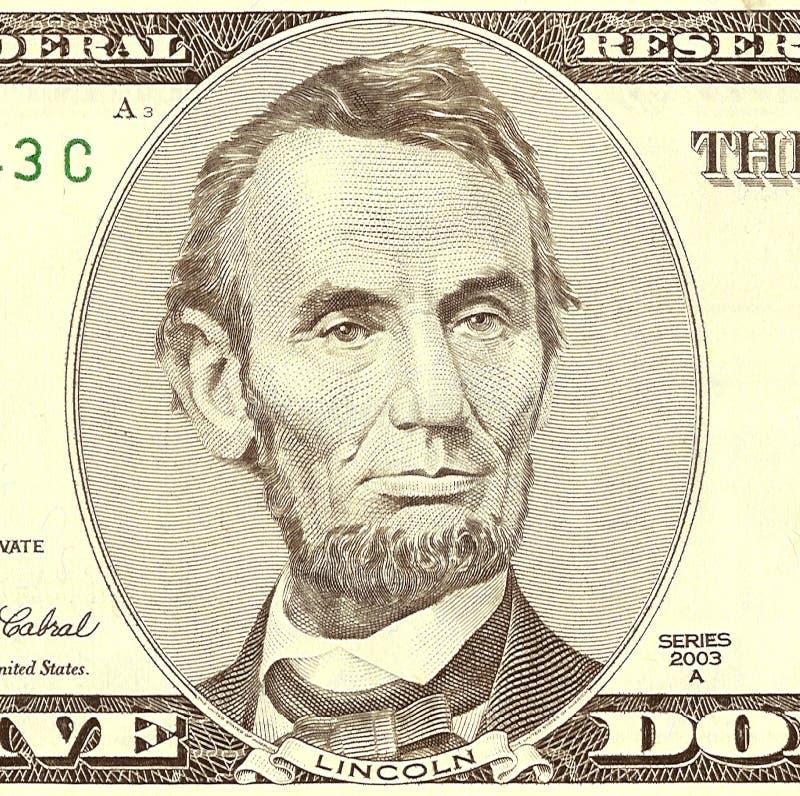 Retrato de Abraham Lincoln fotos de archivo libres de regalías