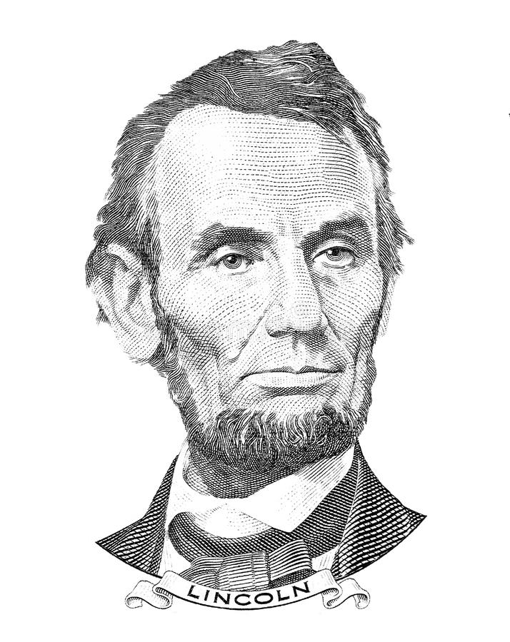Retrato de Abraham Lincoln libre illustration