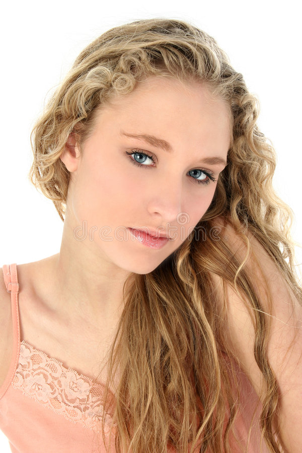Download Retrato De Adolescente Glamoroso Imagem de Stock - Imagem de isolação, fêmea: 527631
