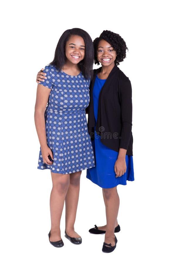 Retrato de 2 adolescentes foto de stock royalty free