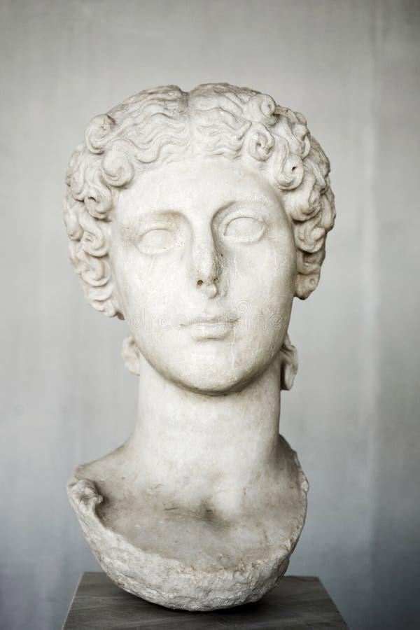 Retrato de Agrippina a mais nova, esposa do imperador Claudius fotografia de stock royalty free