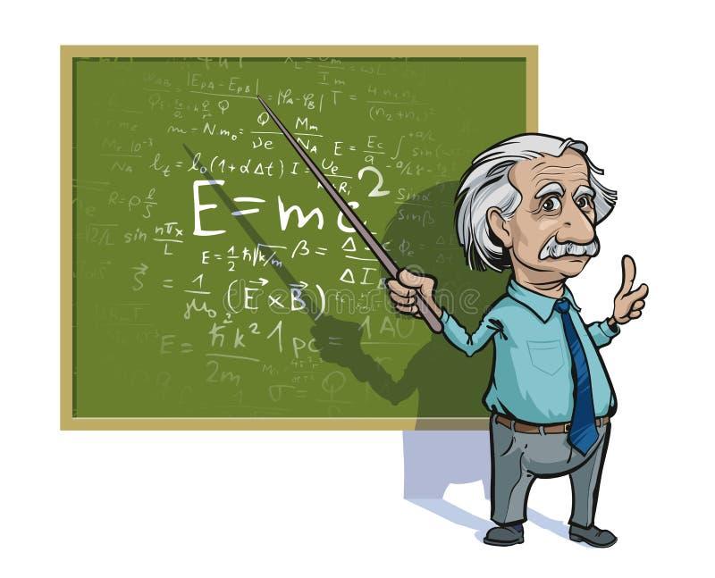 Retrato de Albert Einstein Ilustración del vector Uso editorial solamente libre illustration