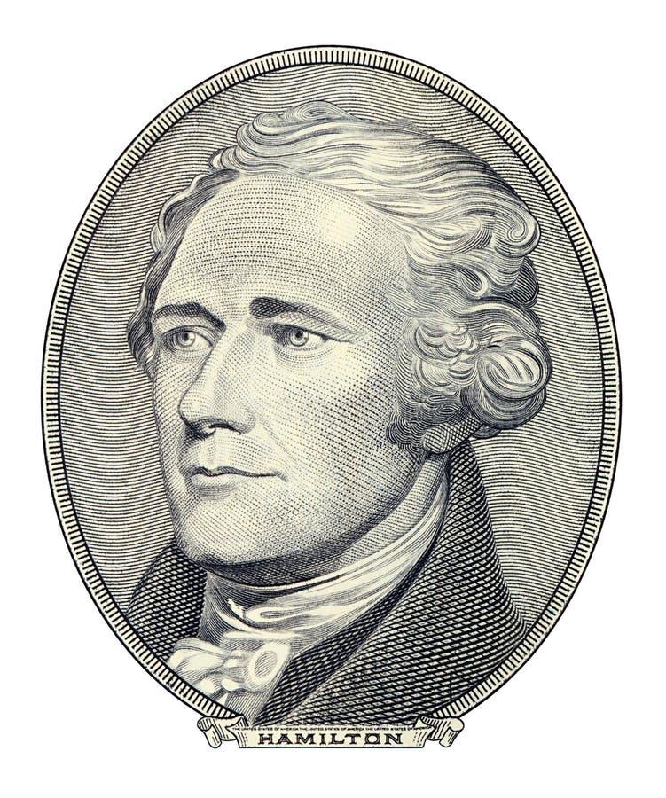 Retrato de Alexander Hamilton fotografía de archivo libre de regalías