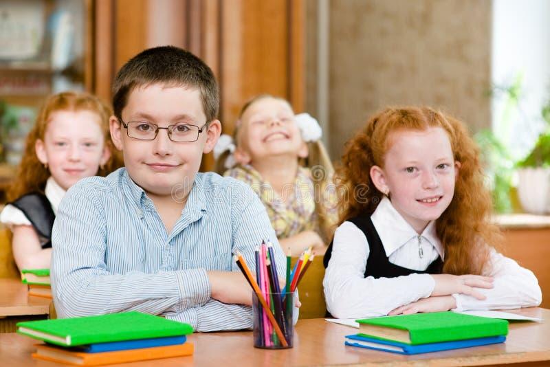 Retrato de alumnos felices foto de archivo libre de regalías