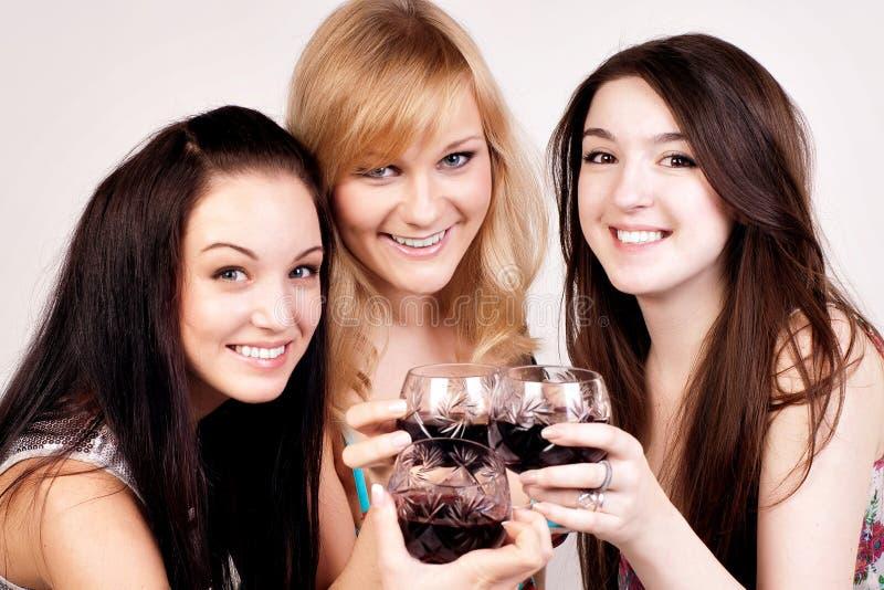 Retrato de amigos jovenes felices fotografía de archivo libre de regalías