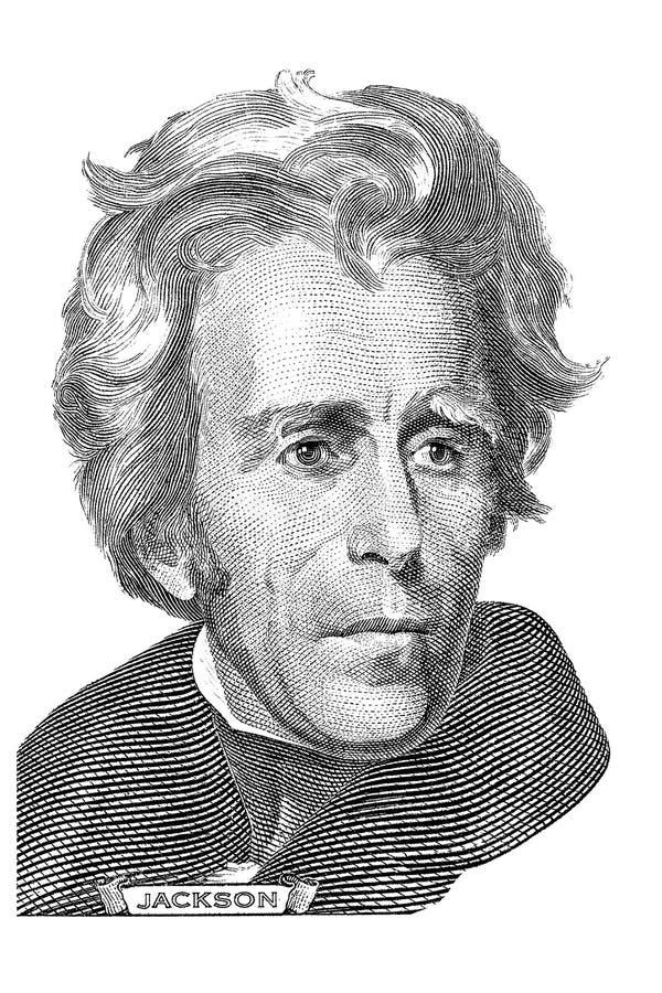 Retrato de Andrew Jackson imagen de archivo