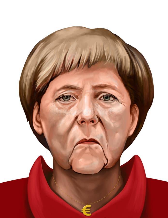 Retrato de Angela Dorothea Merkel, chanceler de Alemanha