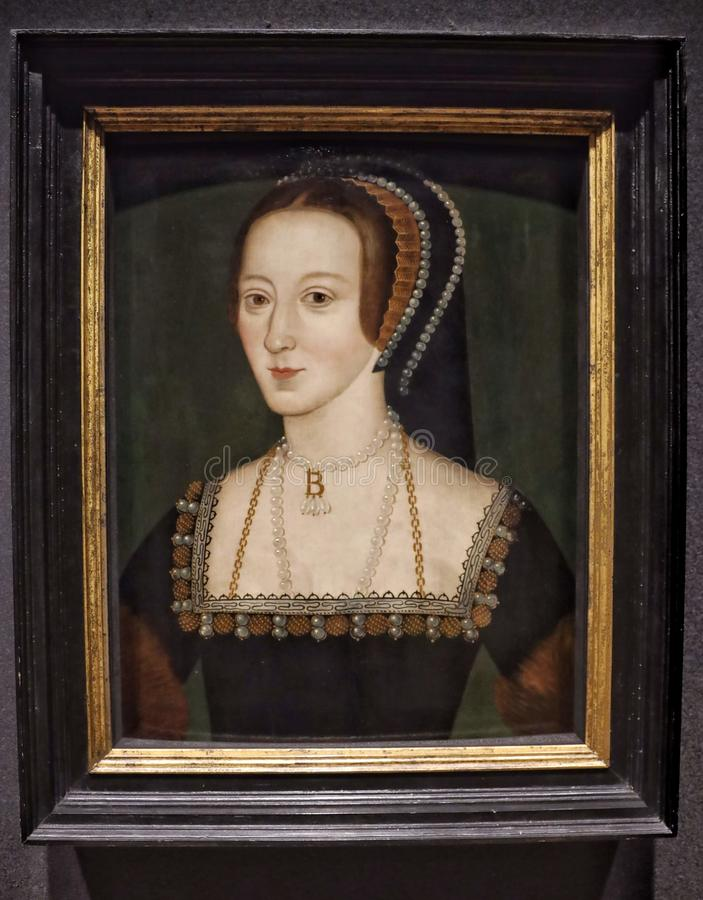 Retrato de Anne Boleyn fotos de stock