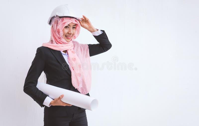 Retrato de arquitetos árabes fotos de stock royalty free