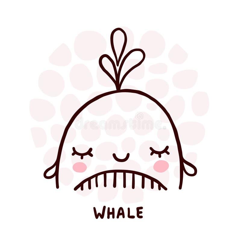Retrato de baleia branca ilustração royalty free