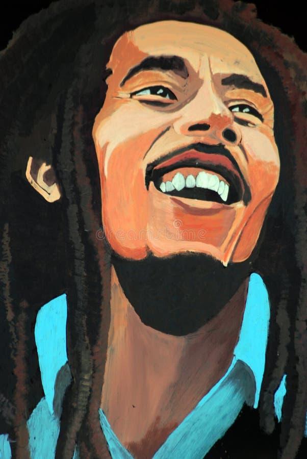 Retrato de Bob Marley imagenes de archivo