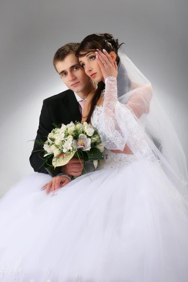 Retrato de casamento dos pares foto de stock