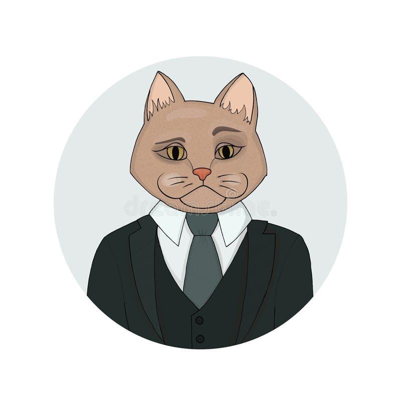 Retrato de Catman ilustração royalty free
