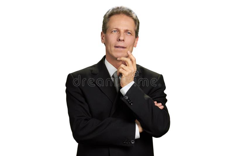 Retrato de corporativo masculino pensativo imagenes de archivo