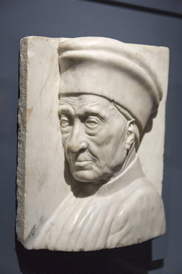 Retrato de Cosimo de Medici por Antonio Rossellino imagem de stock