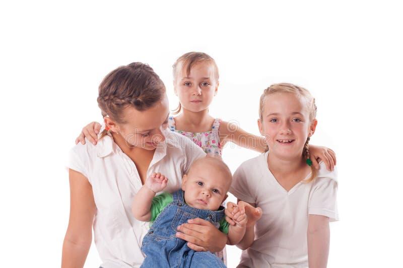 Retrato de crianças da família imagens de stock royalty free