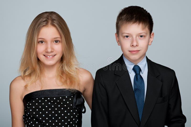 Retrato de crianças de sorriso foto de stock royalty free