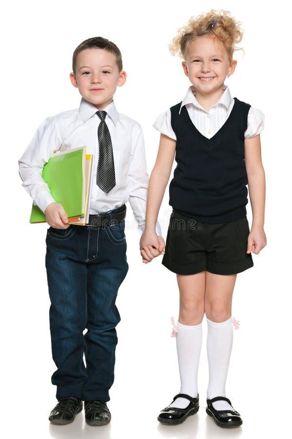 Retrato de dois estudantes fotografia de stock royalty free