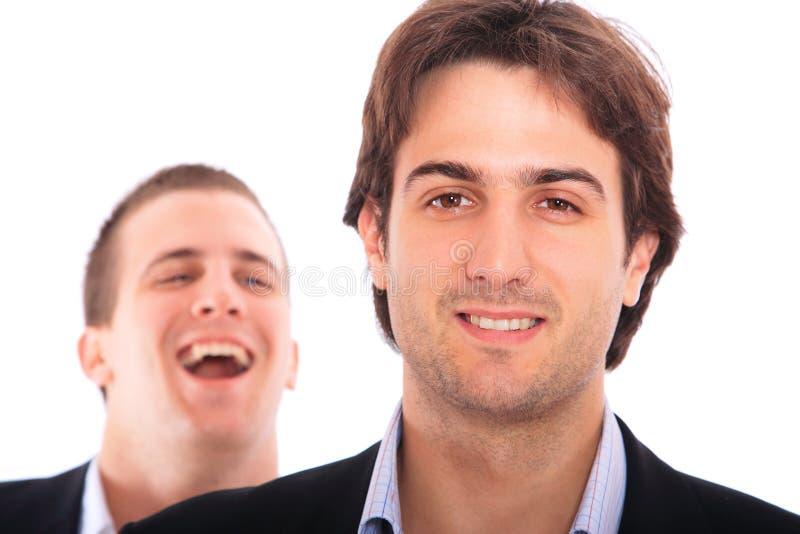 Retrato de dos hombres de negocios fotos de archivo