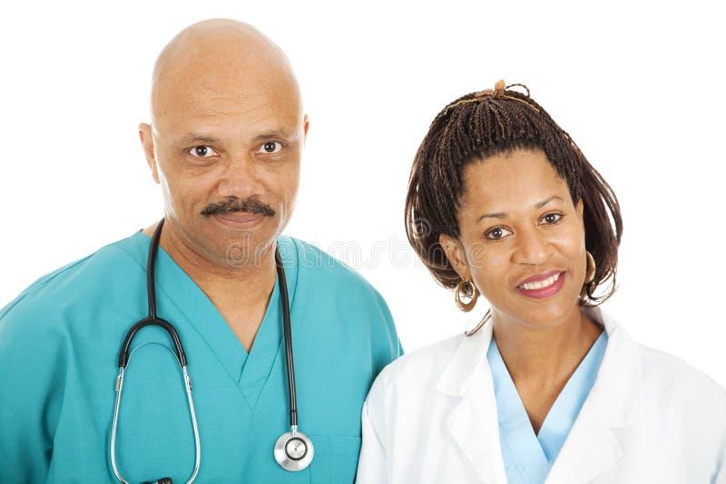 Retrato de doutores de inquietação fotografia de stock royalty free