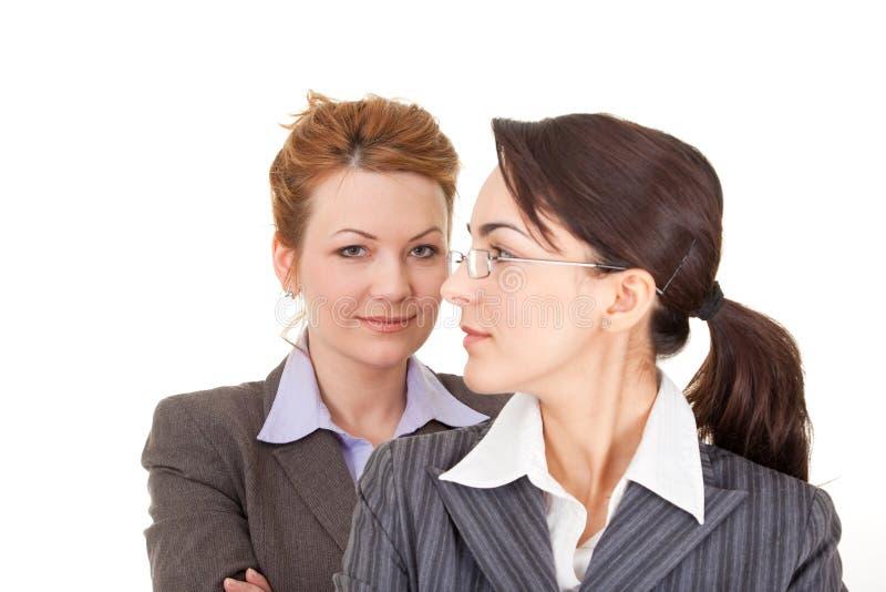 Retrato de duas mulheres de negócio foto de stock
