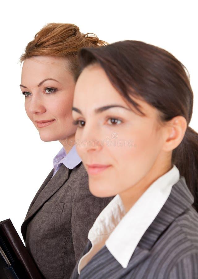 Retrato de duas mulheres de negócio imagens de stock royalty free