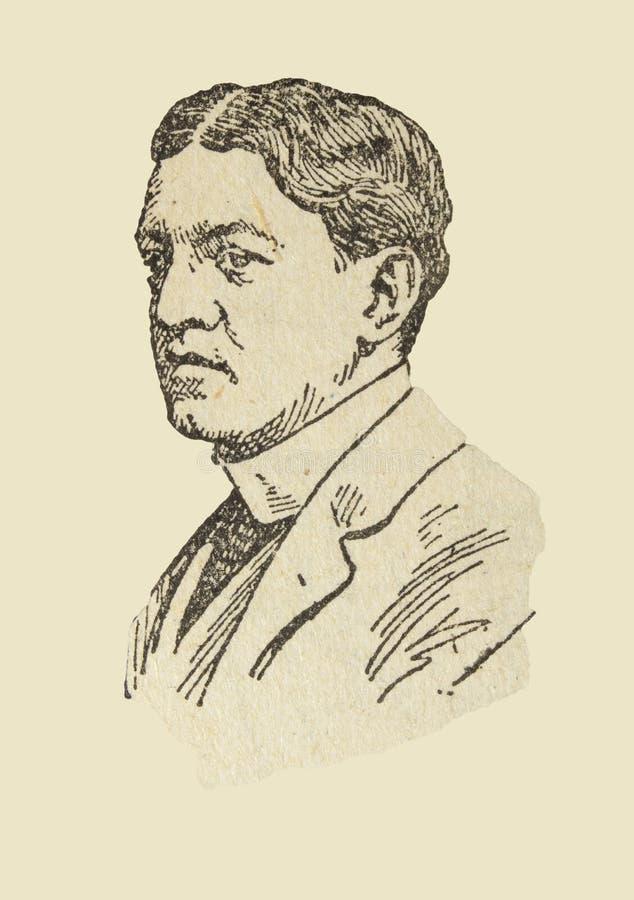 Retrato de Ernest Shackleton, explorador antártico imagem de stock royalty free