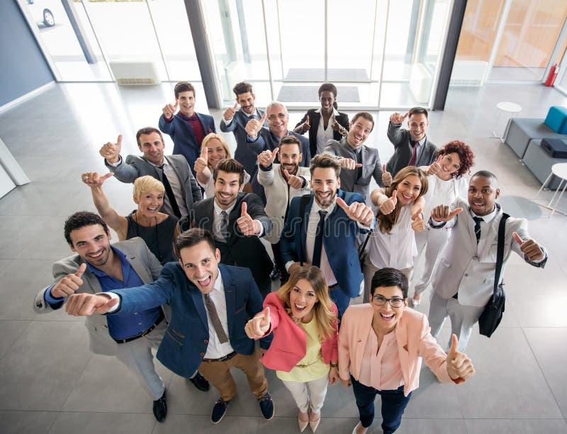 Retrato de executivos de sorriso imagem de stock