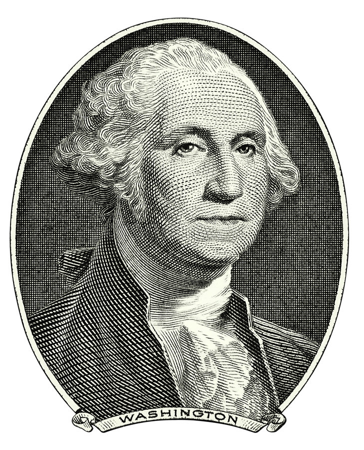 Retrato de George Washington fotos de stock royalty free