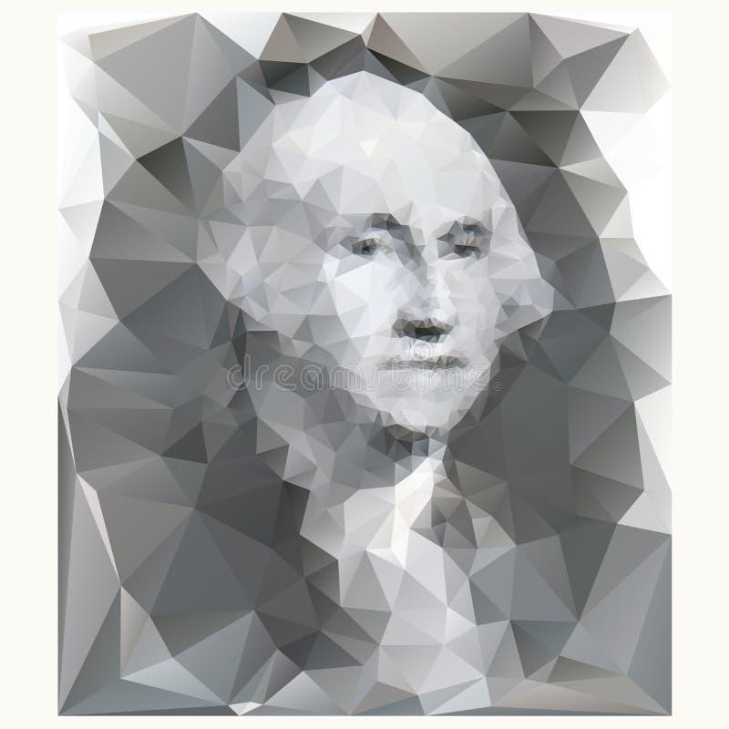 Retrato de George Washington ilustración del vector