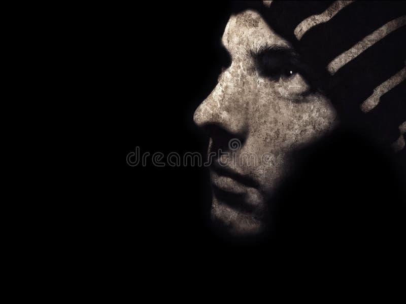 Retrato de Grunge imagens de stock royalty free