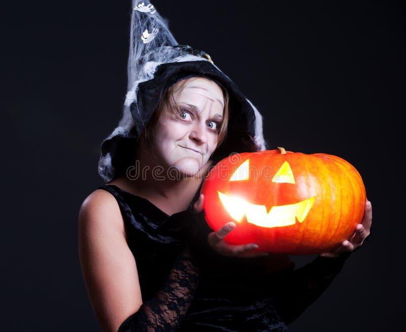 Retrato de Halooween da bruxa foto de stock