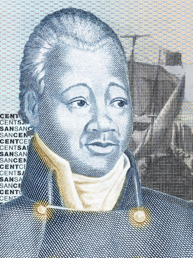 Retrato de Henri Christophe imagenes de archivo