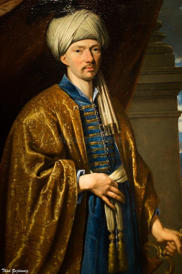 Retrato de Jean de Thévenot ( 1633-1667) , 1660-63 por Philippe de Champaigne ( Francês, 1602-74) fotos de stock royalty free