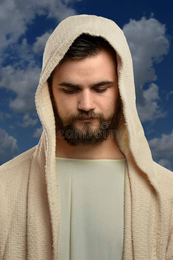 Retrato de Jesus Outdoors imagens de stock