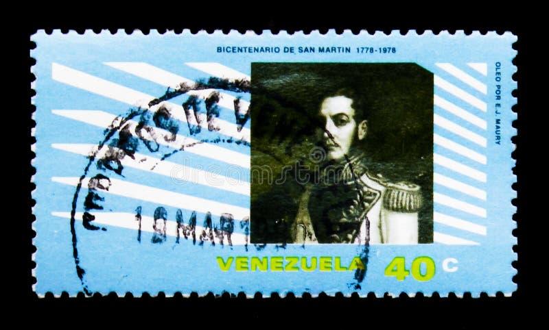 Retrato de Jose de San Martin, serie, circa 1979 imágenes de archivo libres de regalías