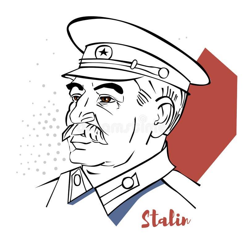 Retrato de Joseph Stalin ilustração stock