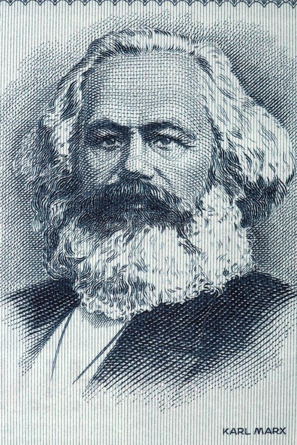 Retrato de Karl Marx do dinheiro alemão velho foto de stock royalty free