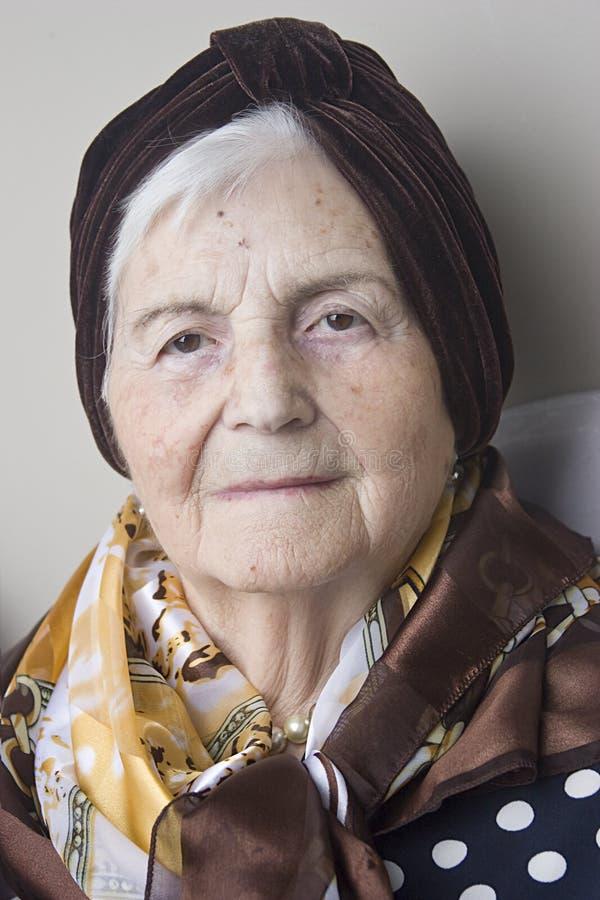 Retrato de la abuela fotos de archivo libres de regalías