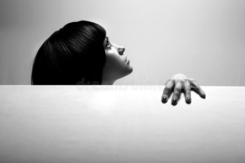 Retrato de la bella arte de la muchacha elegante foto de archivo libre de regalías