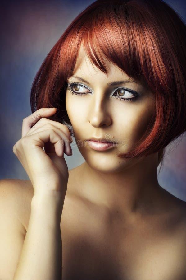 Retrato de la belleza de la manera de la mujer del encanto imagenes de archivo