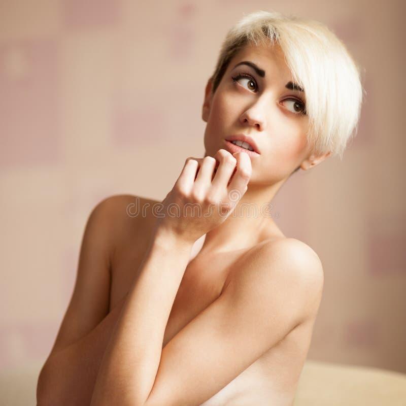 Retrato de la belleza de la muchacha sensual imágenes de archivo libres de regalías