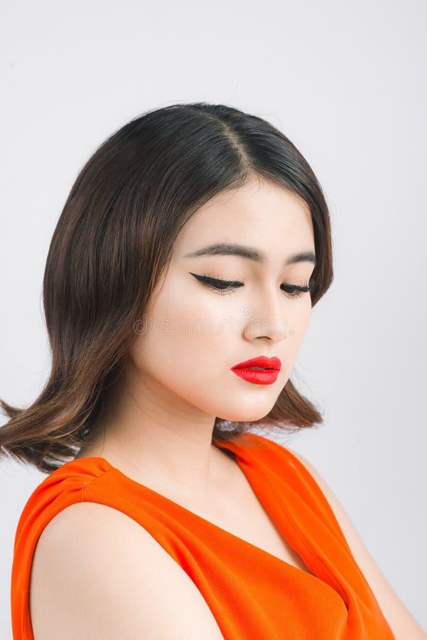 Retrato de la cara de la mujer de la belleza Juventud y novia hermosas del peinado foto de archivo libre de regalías